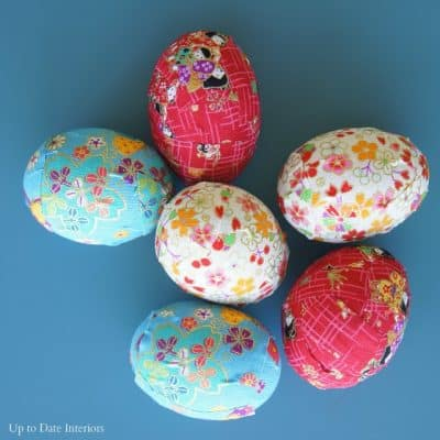 japanese washi easter eggs for modern eclectic Easter decor