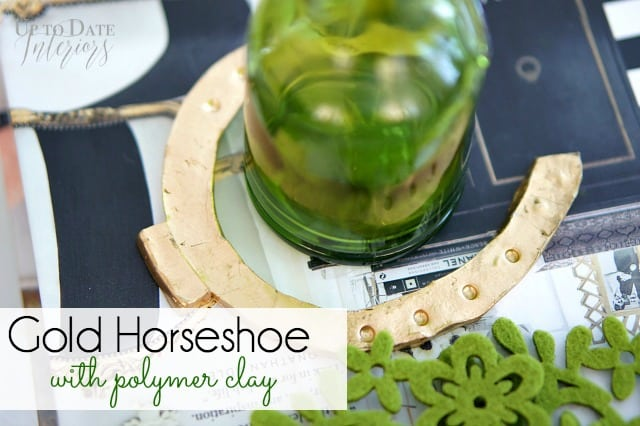 gold horseshoe polymer clay