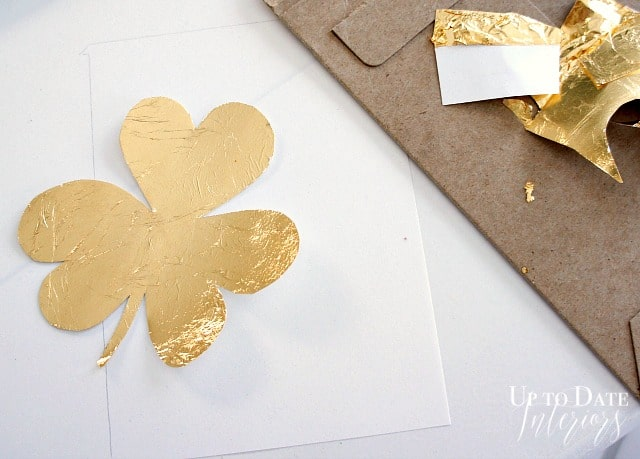 gold leaf shamrock