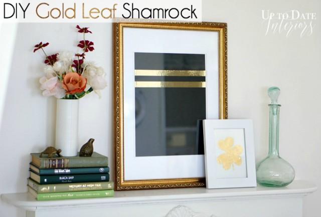 diy gold leaf shamrock clover and clay horseshoe diy