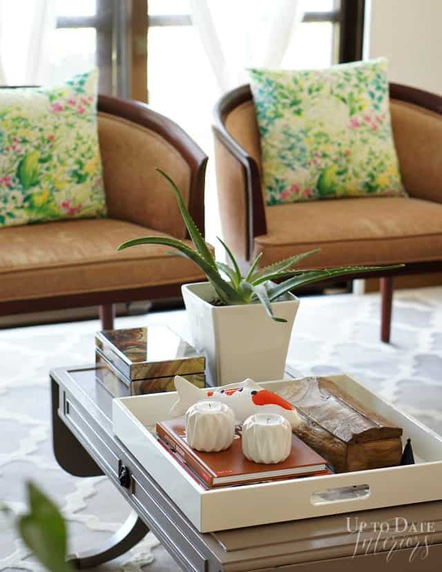 coffee table styling with hidden storage