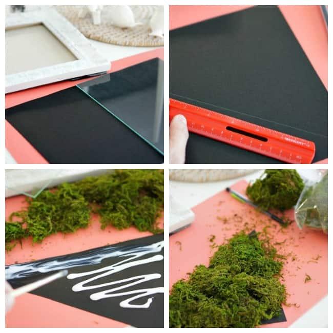 moss wall art DIY with printable