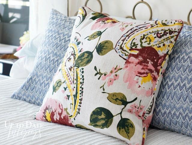 spring home tour pillows