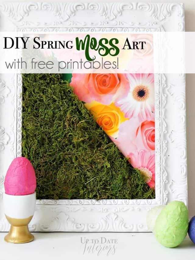 modern spring DIY moss art