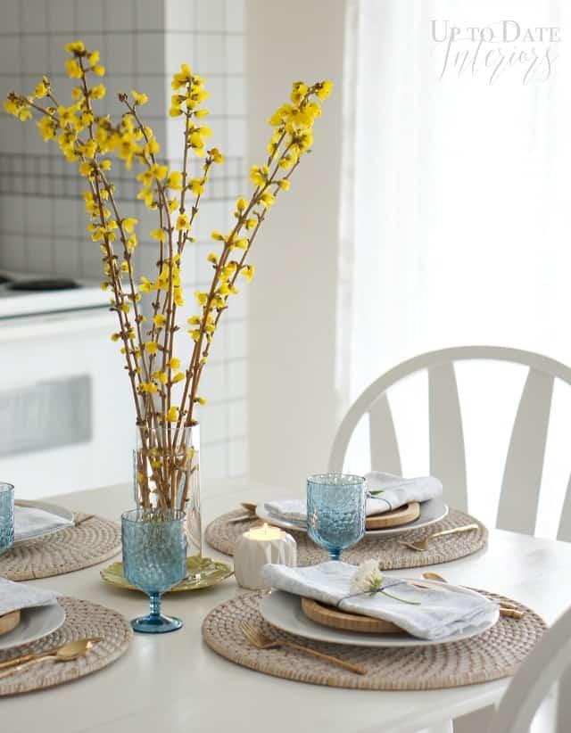 Easter Spring Table settings
