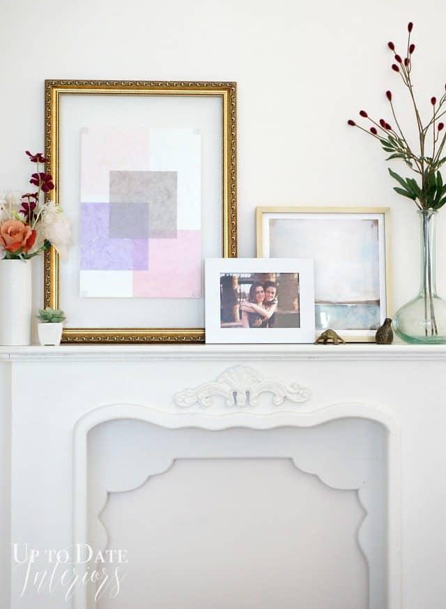 thrifted frame diy art for $1
