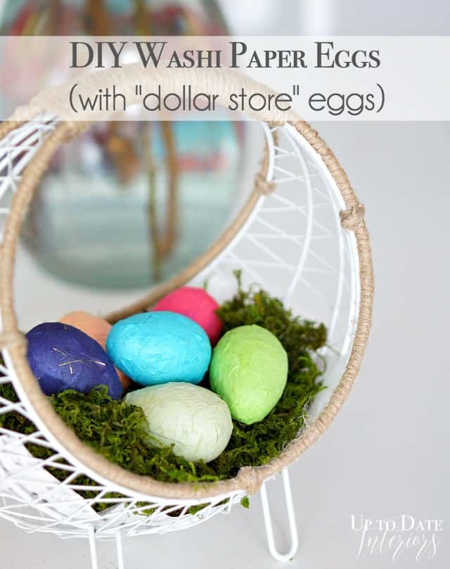 washi paper Easter eggs for under $1