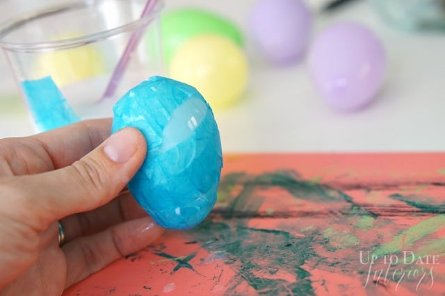 DIY Easter eggs with washi paper