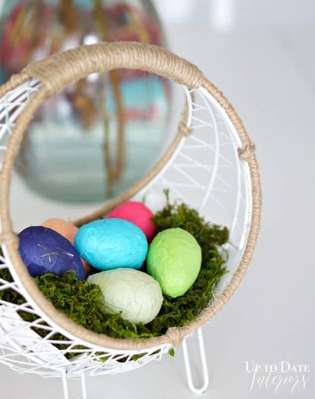 washi eggs with plastic eggs