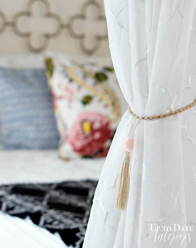 DIY curtain tie backs inspired by Anthro