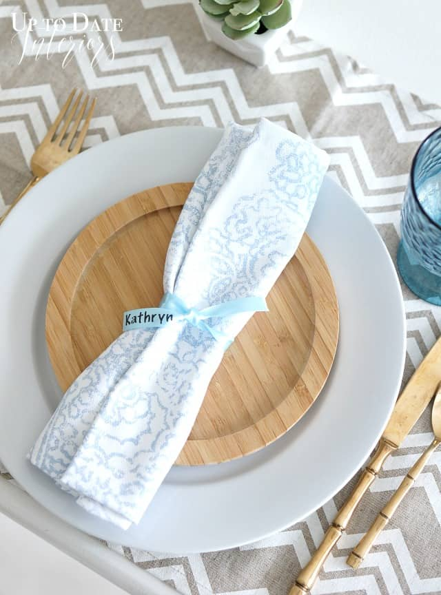 personalized place setting