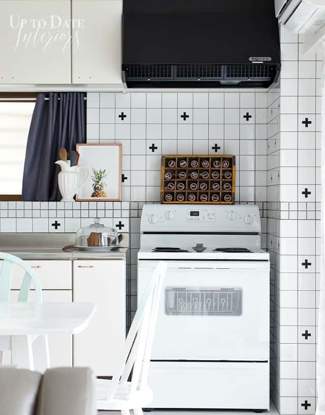 DIY swiss cross tiles renter friendly