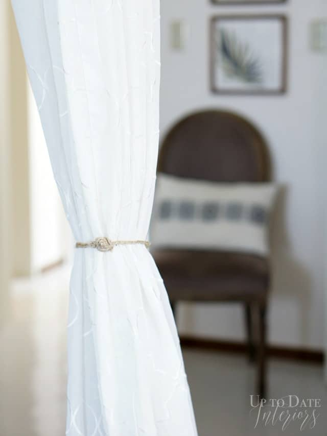 DIY Curtain Tie Back with Fastener