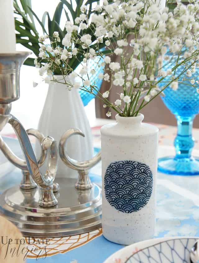 ceramic vase Eddie Ross inspired table