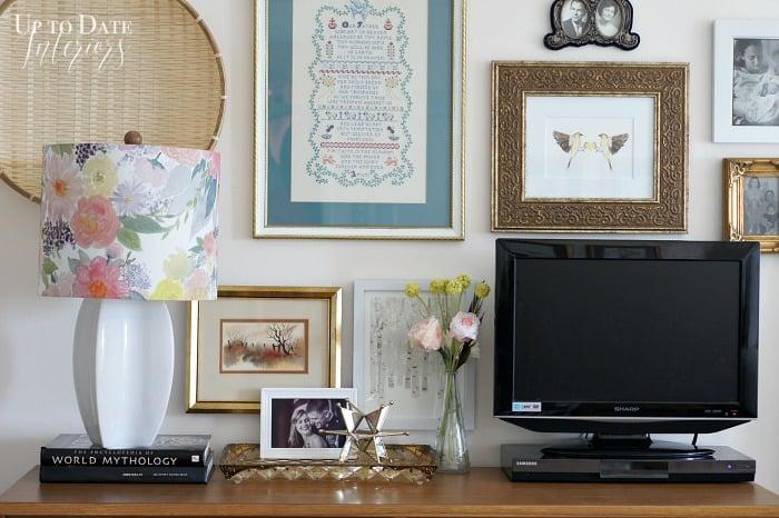 wall gallery above dresser