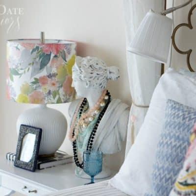 pretty and feminine bedroom