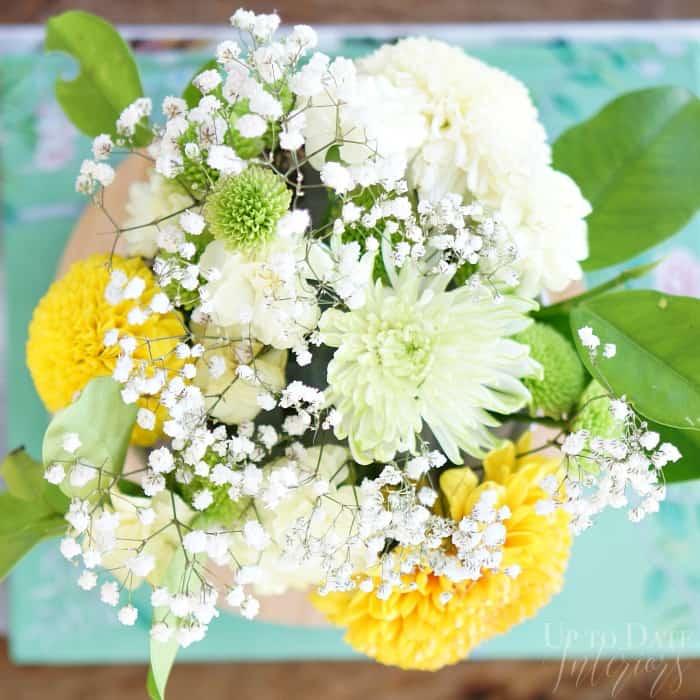 flower arrangement in a bowl