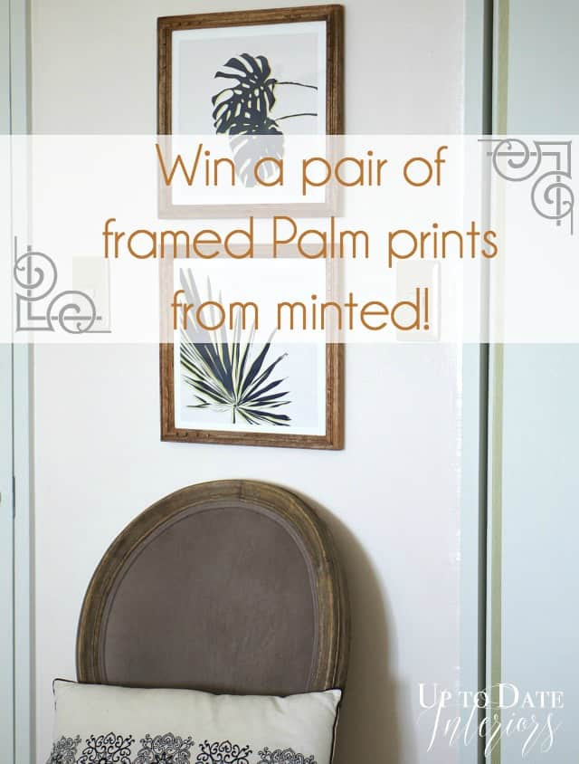 minted palm leaf art