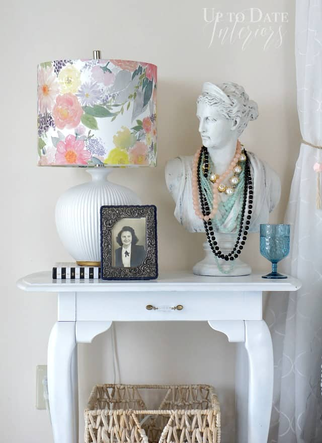 minted floral lampshade