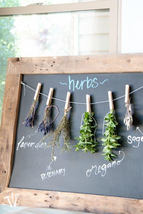 DIY-Rustic-Chalkboard-Herb-Drying-Rack-12