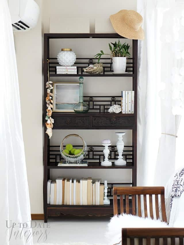 seaside inspired bookcase