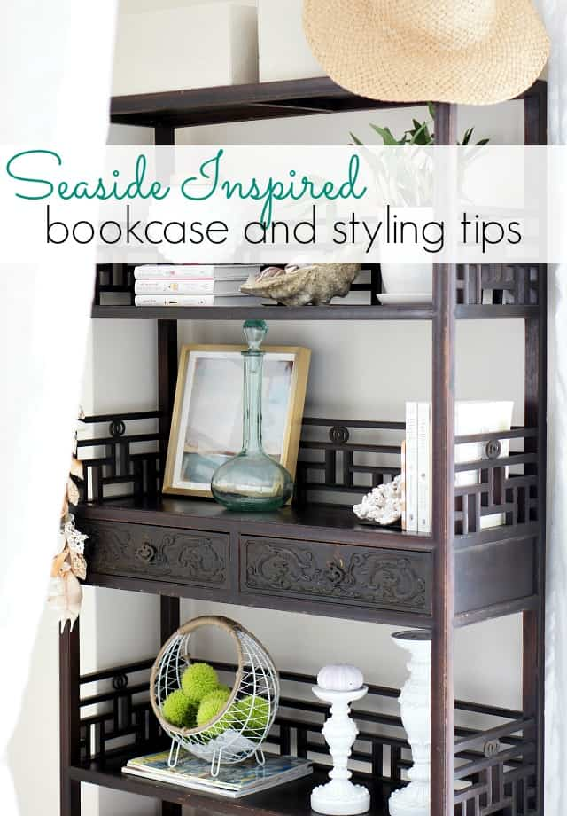 styling tips for a seaside inspired bookcase