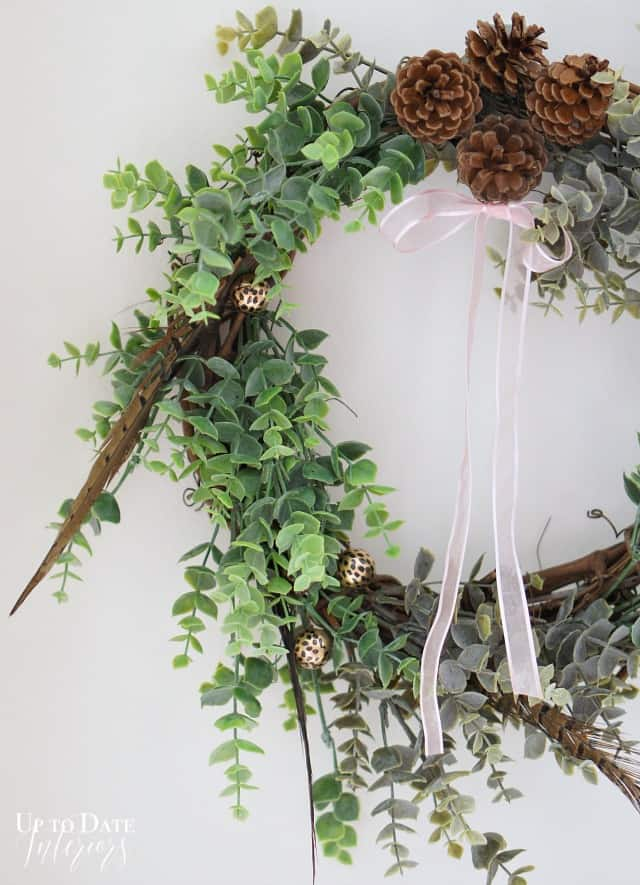 dollar store eucalyptus wreath