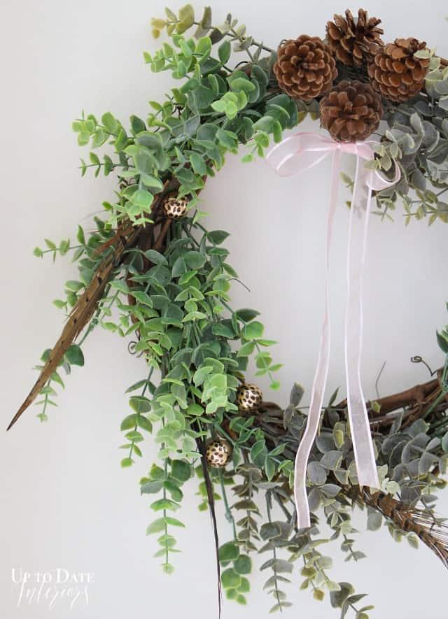 dollar store eucalyptus wreath