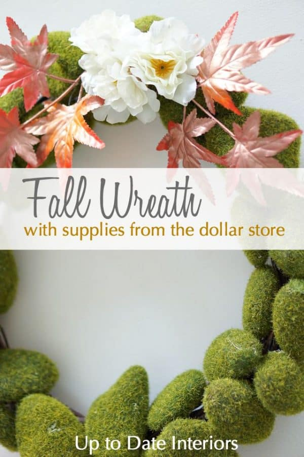 Fall wreath dollar store