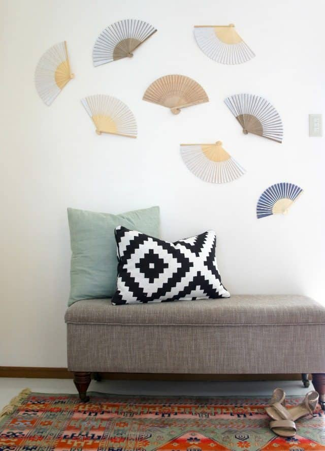 fans on rental wall for decorating for renters