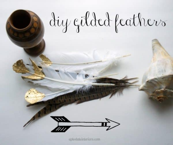 diy gilded feathers