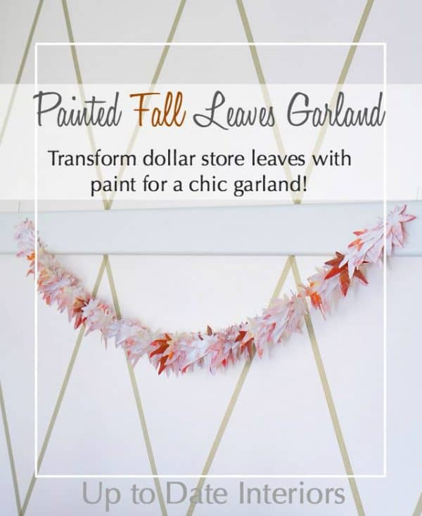 painted leaves garland