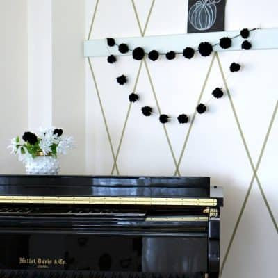 Neutral Halloween Decor and DIY Garland