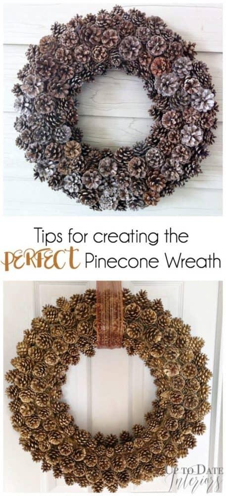 pinecone wreath tips