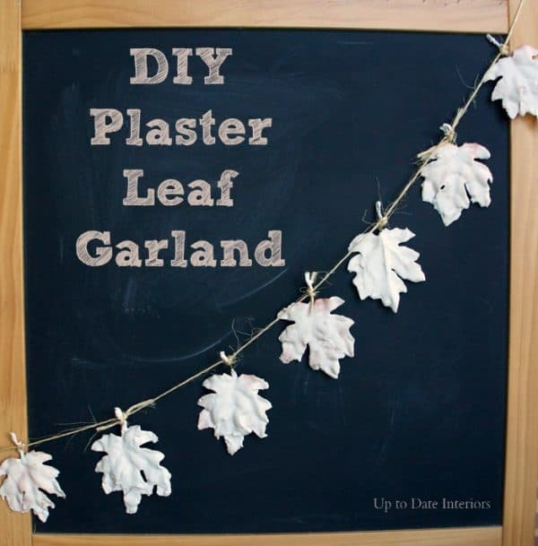 diy plaster leaves