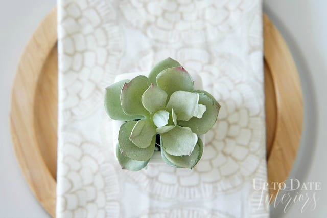 succulent table setting