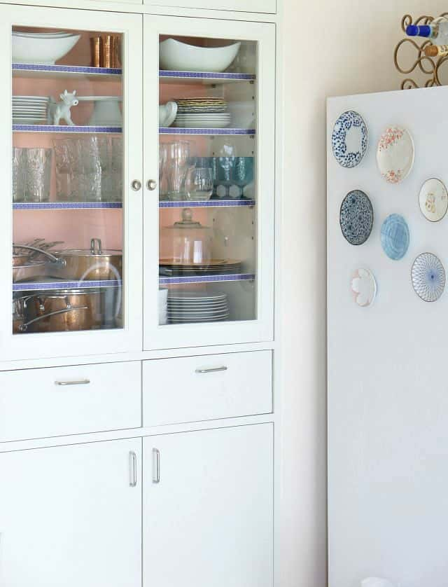 diy fridge magnets and china cabinet makeover with washi