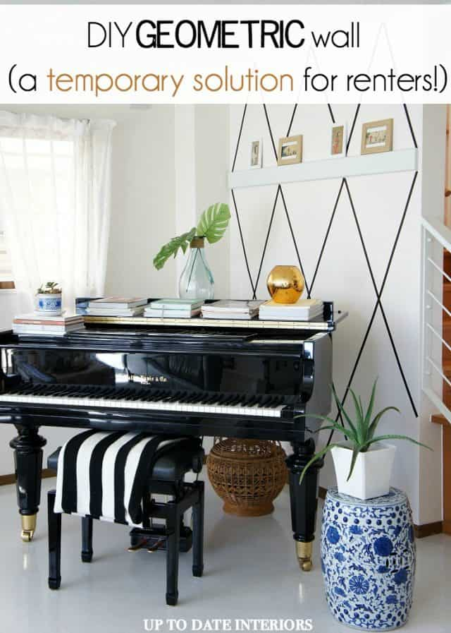 diy-patterned-wall-pinterest