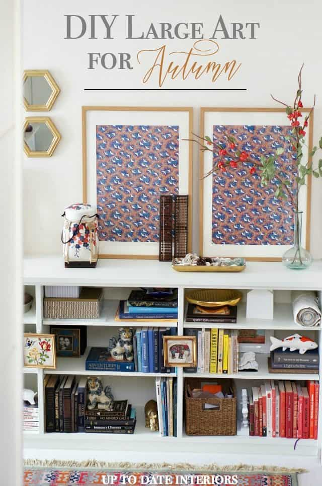 large DIY art for Fall in a Japanese print