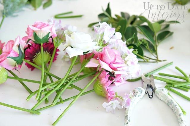 faux flowers stems
