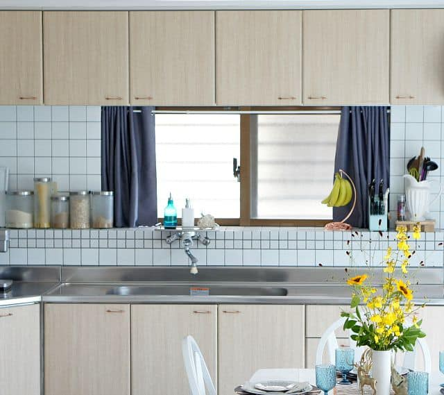 rental kitchen cabinet makeover with contact paper