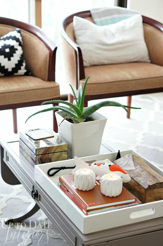 coffee table styling eclectic