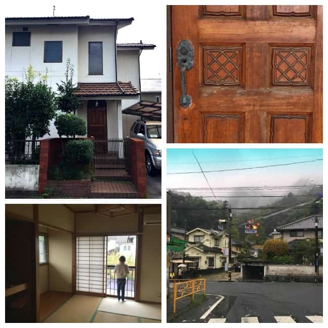 japan house and scenery and tatami room