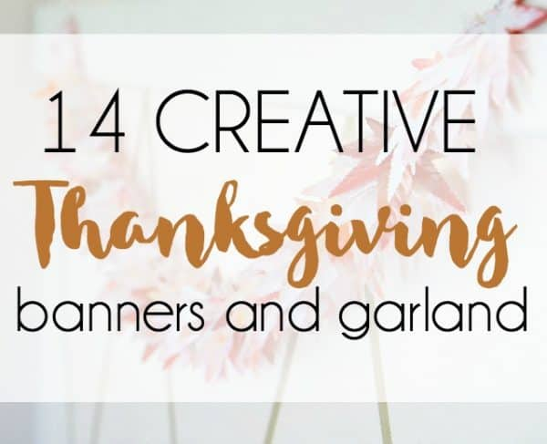 creative thanksgiving banners and garland