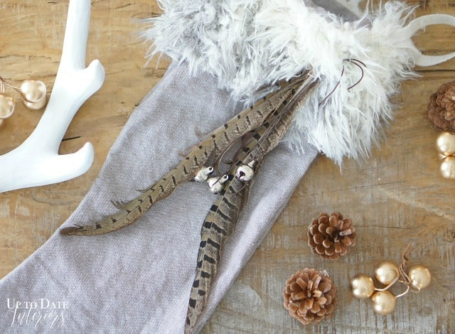 DIY Christmas Stockings with linen and fur