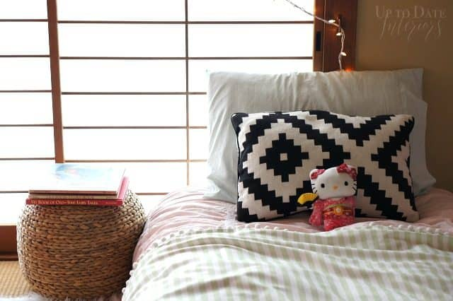 Easy DIY Candy Striped Coverlet inspired by Serena and Lily