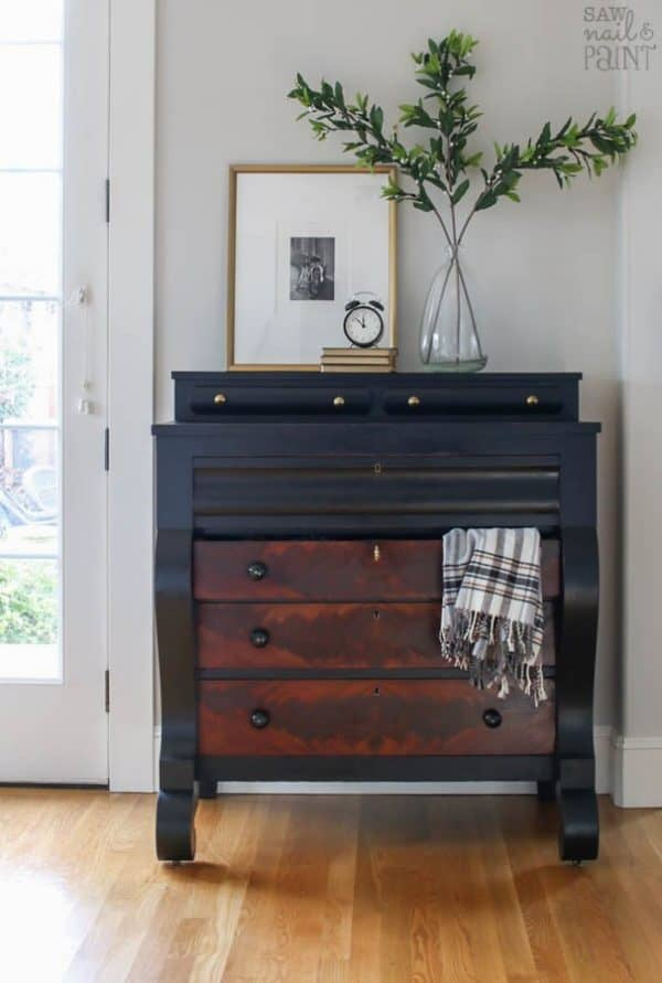 gorgeous empire style dresser makeover