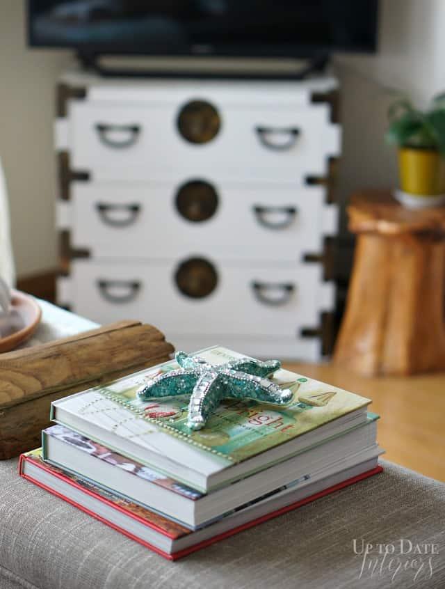 christmas books on the coffeetable