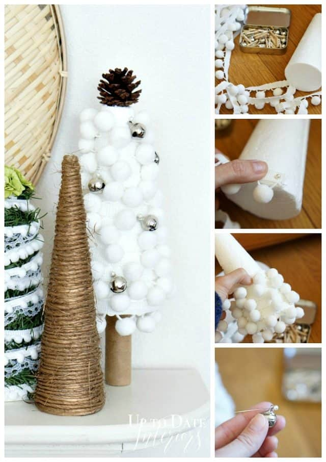 pom pom tree with jingle bells dollar store craft