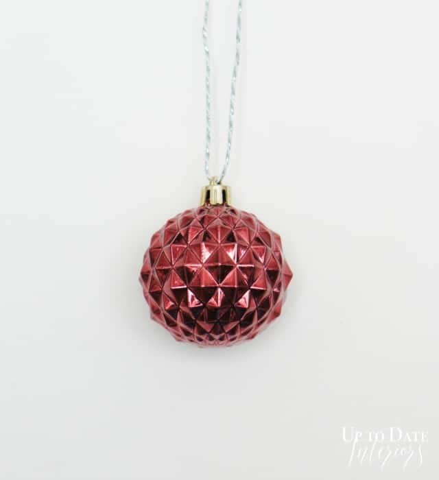 wine colored ornament